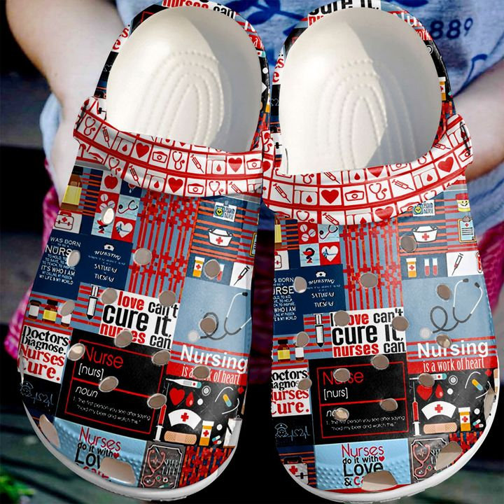 Nurse Pattern Crocs Clog Shoes