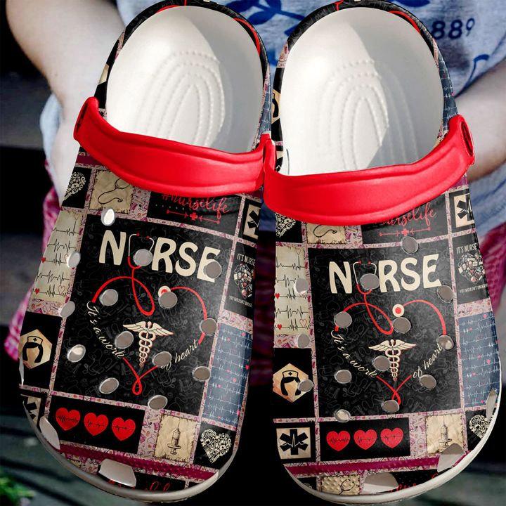 Nurse Pattern Gift Crocs Clog Shoes