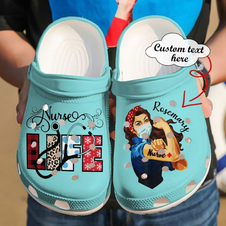 Nurse Personalized Life Crocs Clog Shoes