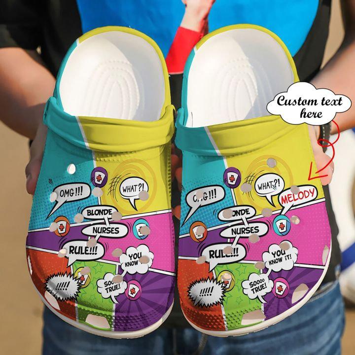 Nurse Personalized Rules Crocs Clog Shoes