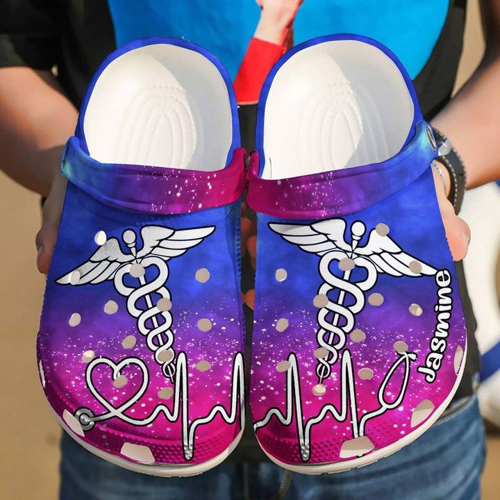Nurse Personalized Symbol Crocs Clog Shoes