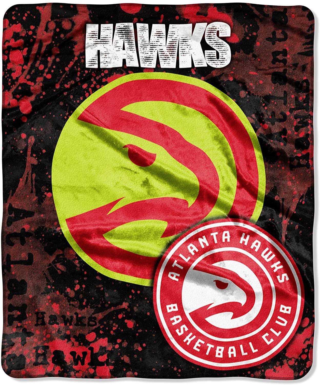 Officially Licensed Nba Throw Atlanta Hawks Fleece Blanket