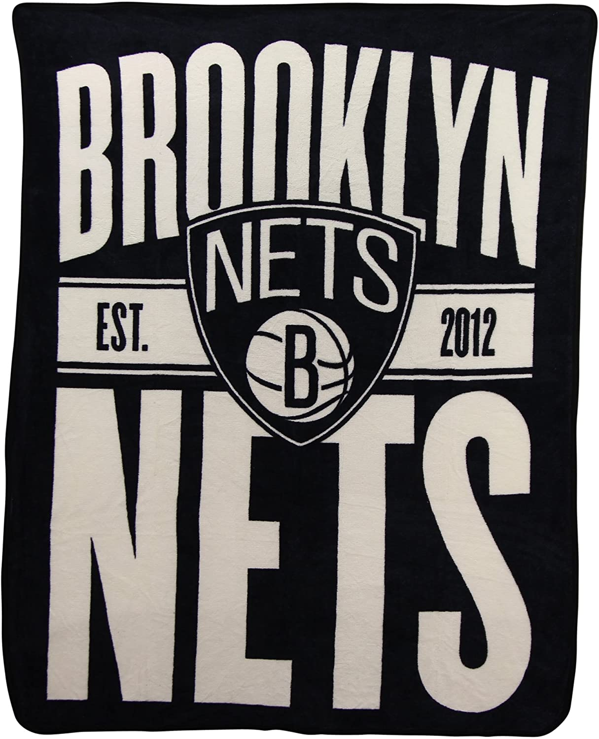 Officially Licensed Nba Throw Brooklyn Nets Fleece Blanket
