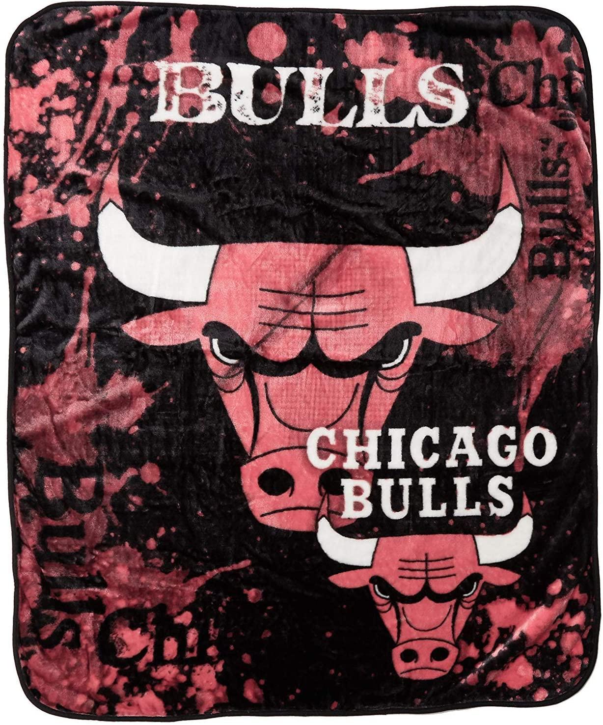 Officially Licensed Nba Throw Chicago Bulls Fleece Blanket