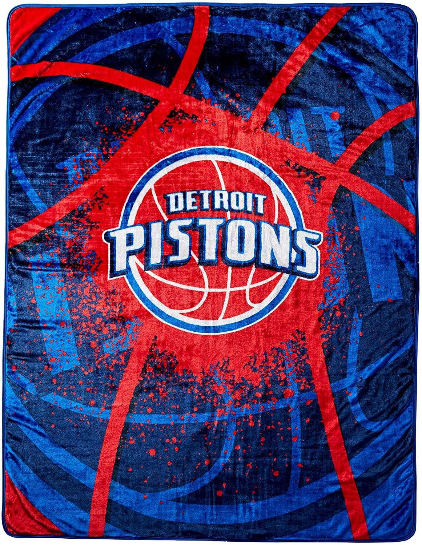Officially Licensed Nba Throw Detroit Pistons Fleece Blanket