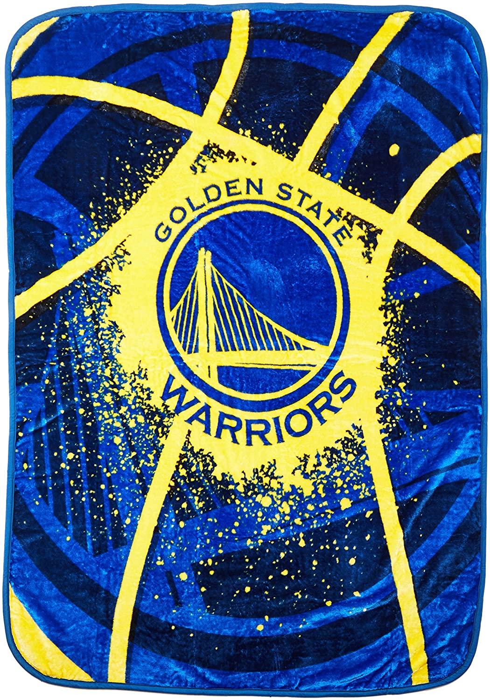 Officially Licensed Nba Throw Golden State Warriors Fleece Blanket