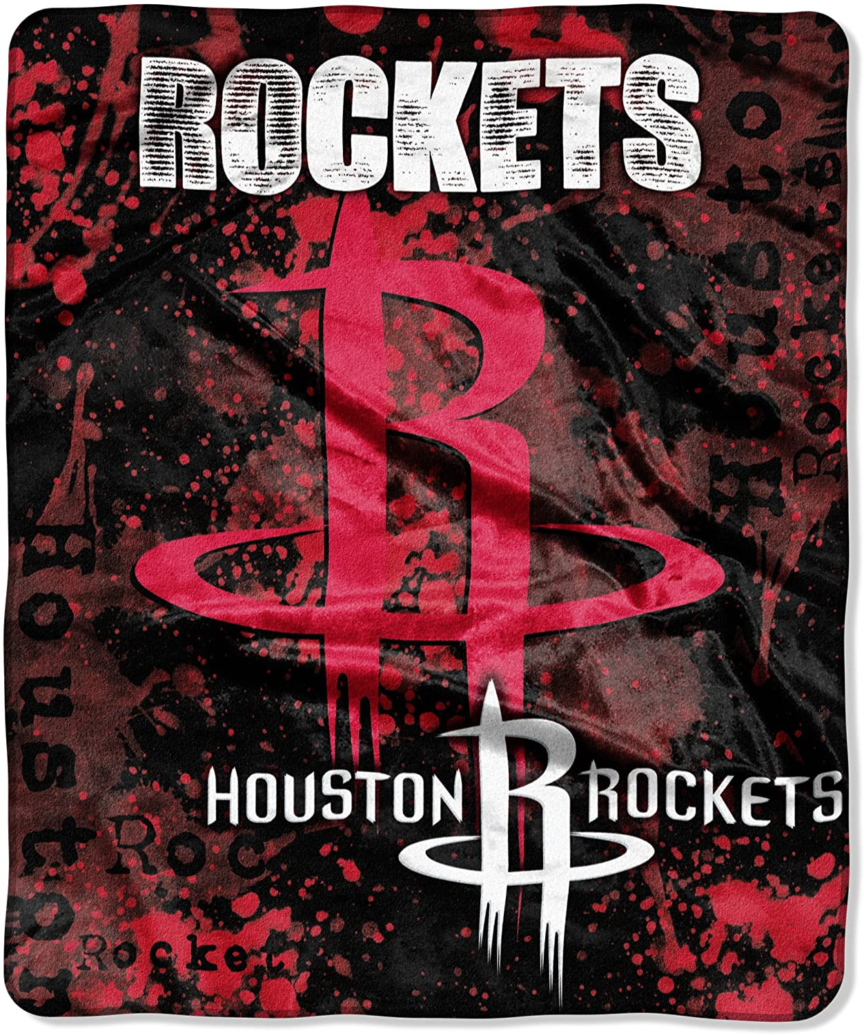 Officially Licensed Nba Throw Houston Rockets Fleece Blanket
