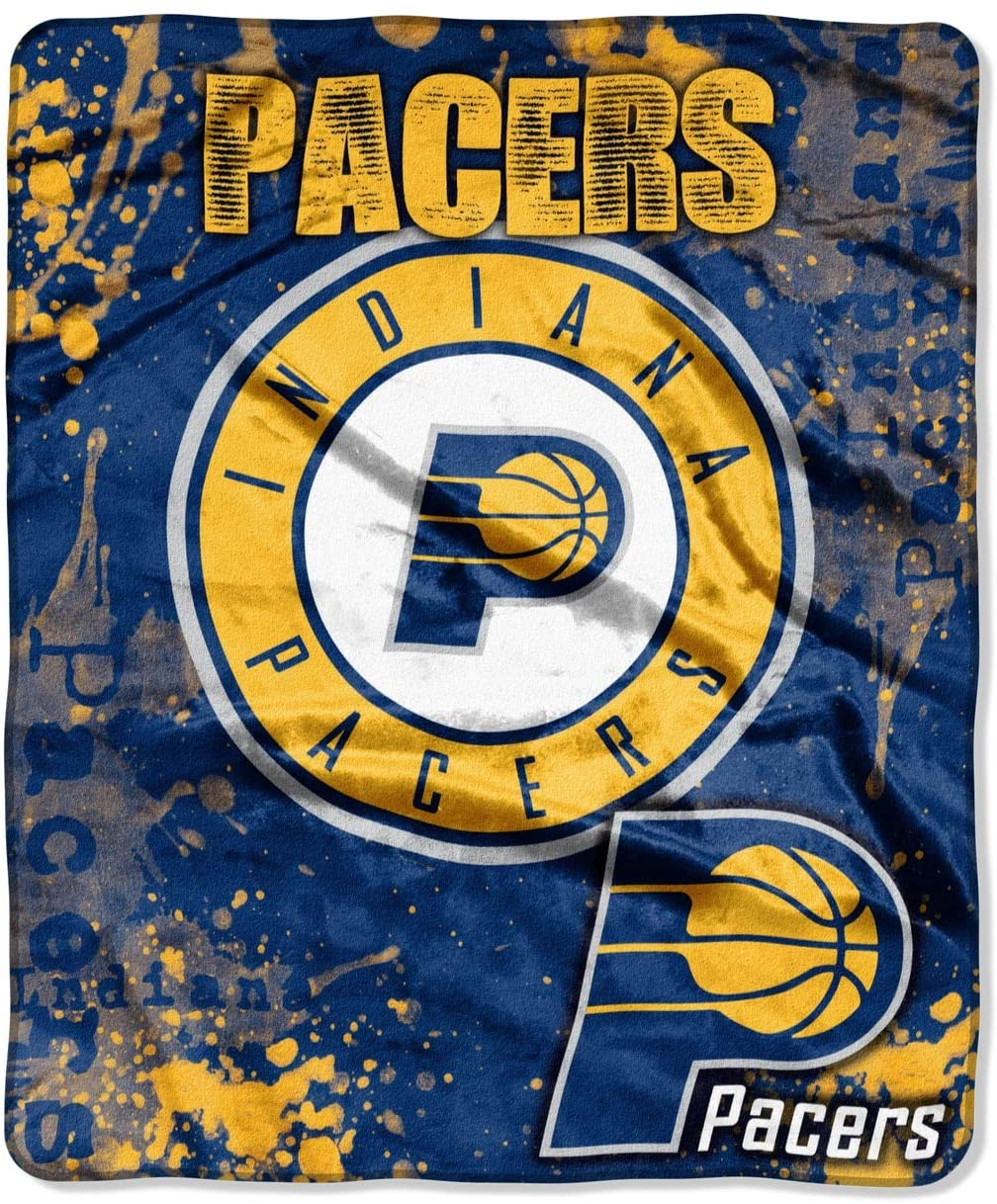 Officially Licensed Nba Throw Indiana Pacers Fleece Blanket