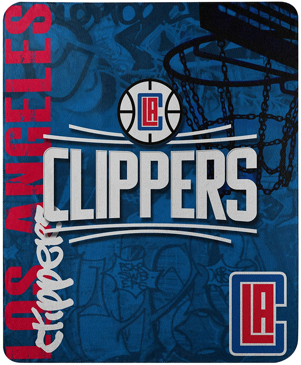 Officially Licensed Nba Throw Los Angeles Clippers Fleece Blanket