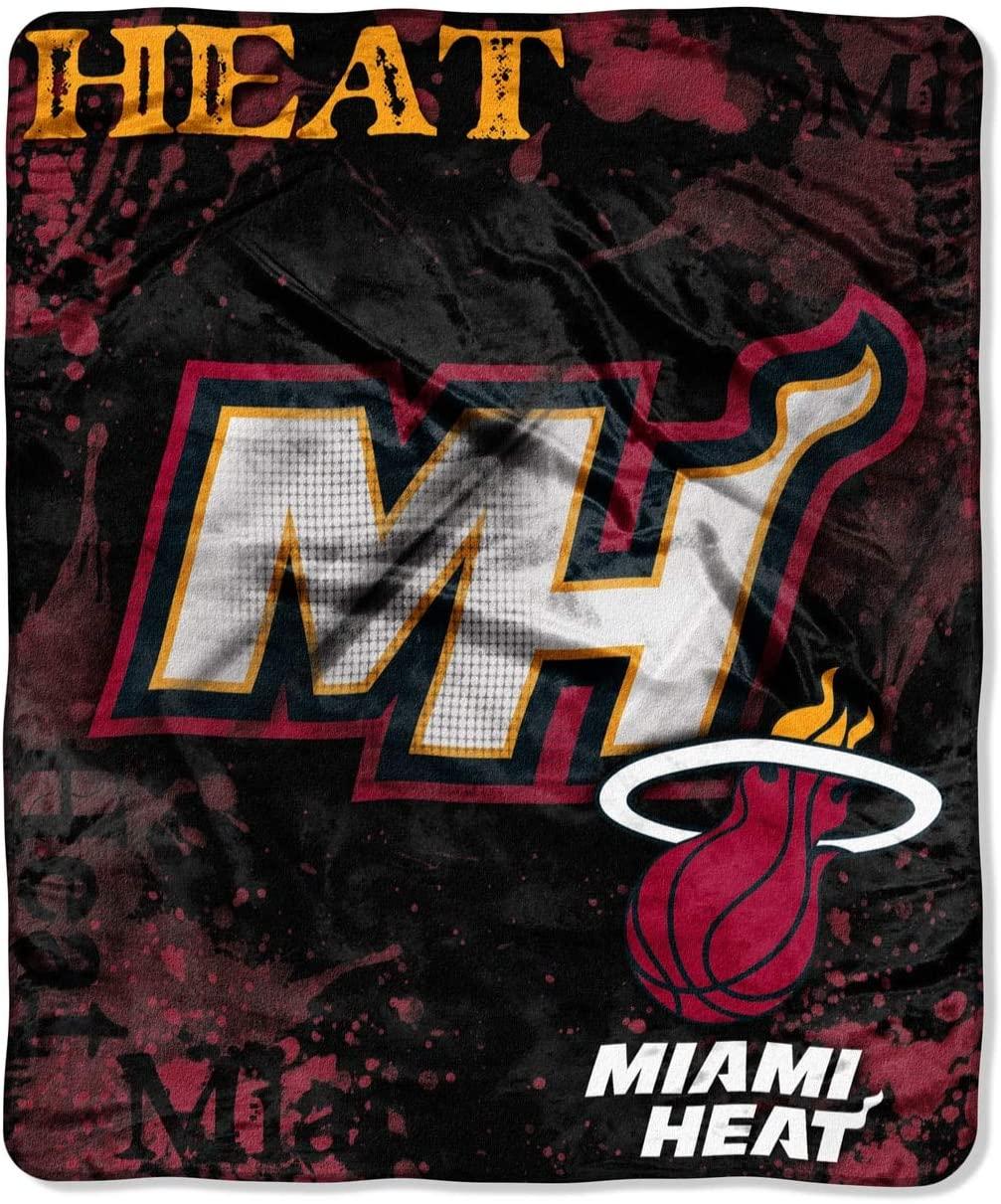 Officially Licensed Nba Throw Miami Heat Fleece Blanket