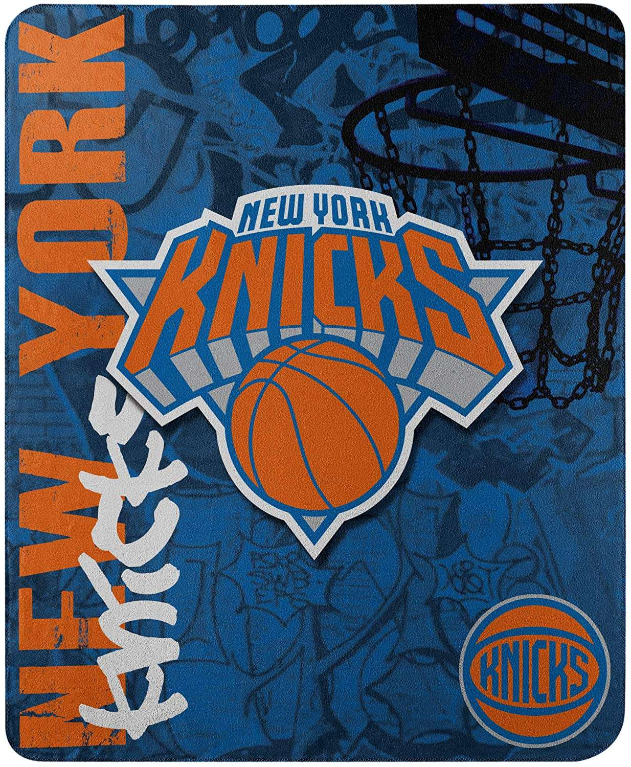 Officially Licensed Nba Throw New York Knicks Fleece Blanket