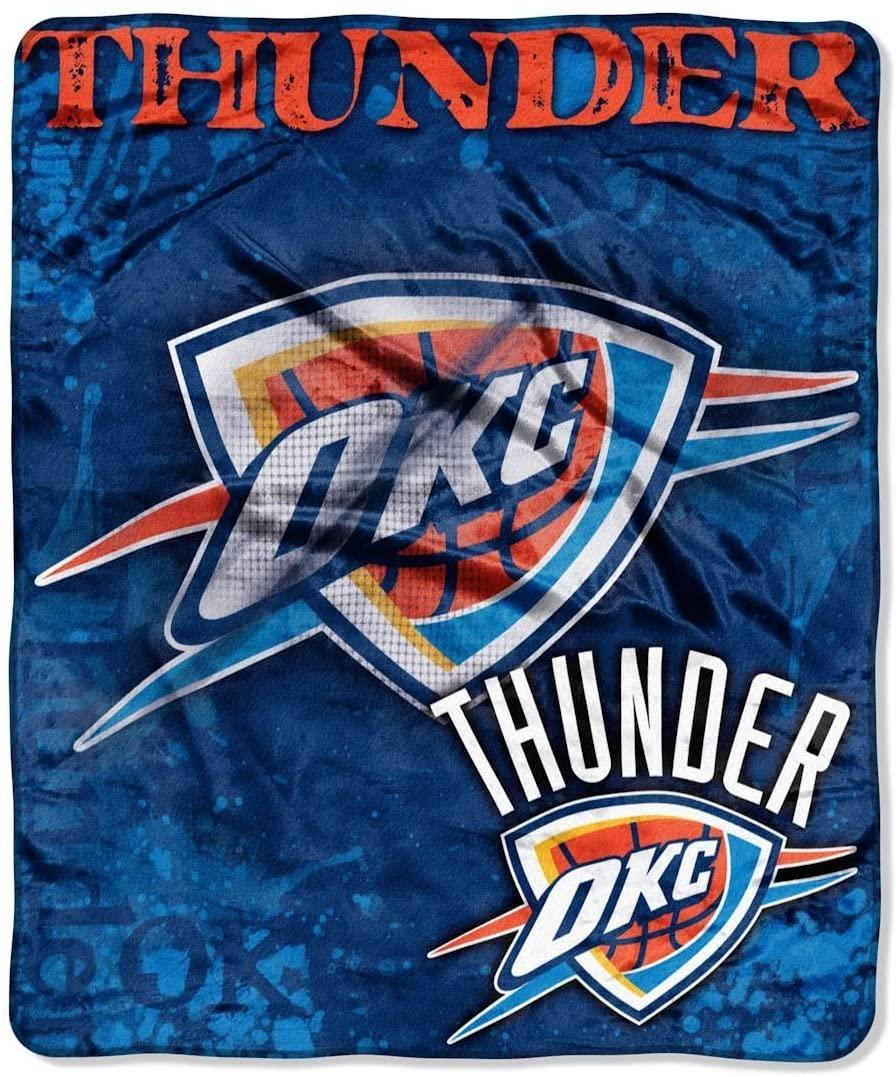 Officially Licensed Nba Throw Oklahoma City Thunder Fleece Blanket