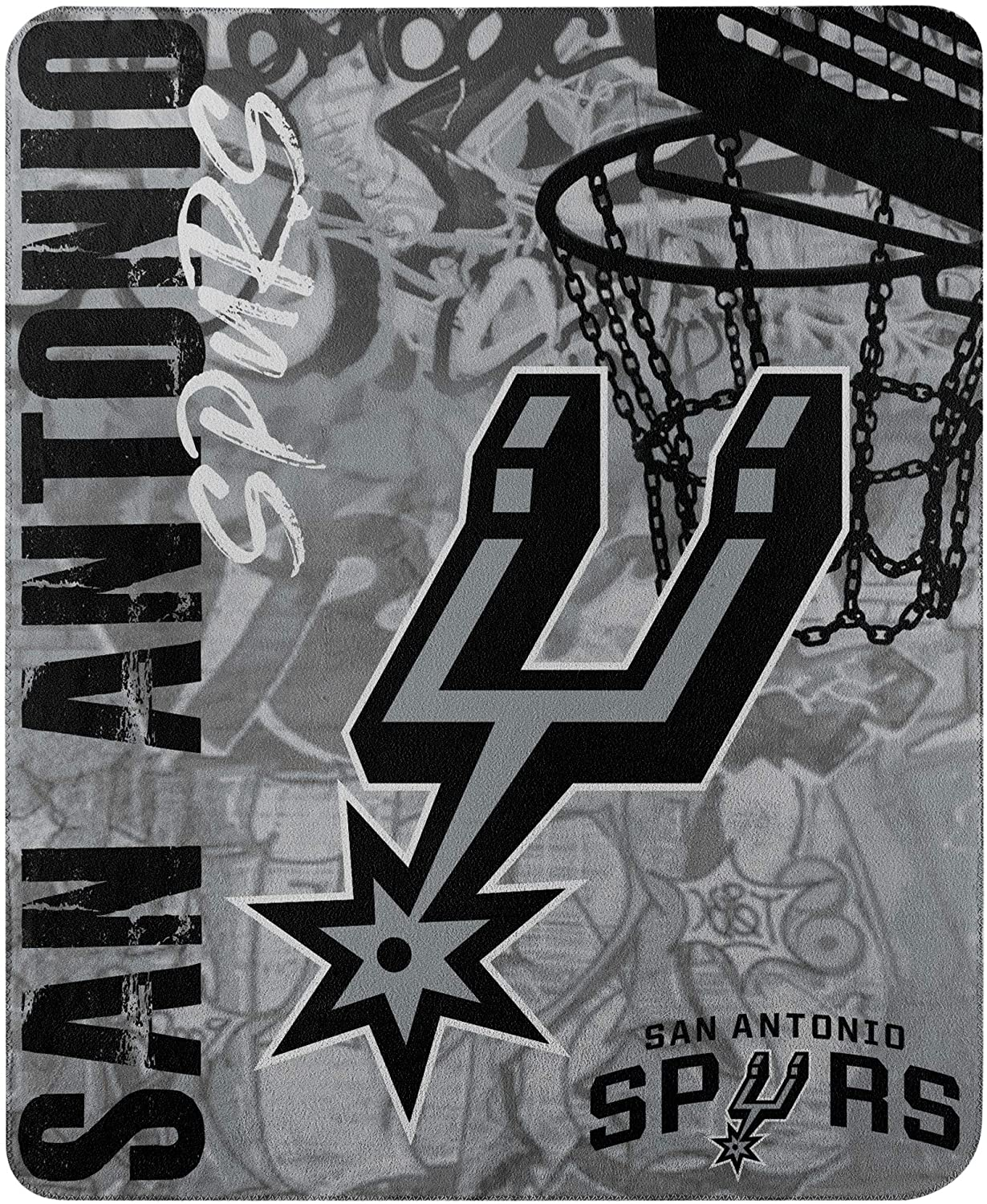 Officially Licensed Nba Throw San Antonio Spurs Fleece Blanket