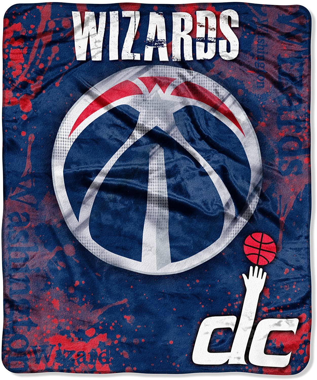 Officially Licensed Nba Throw Washington Wizards Fleece Blanket