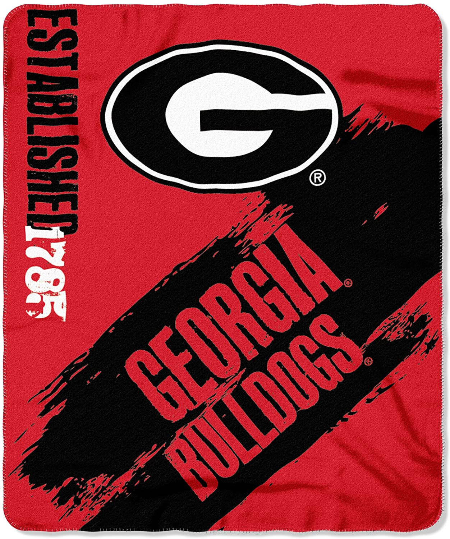 Officially Licensed Ncaa Printed Throw Georgia Bulldogs Fleece Blanket
