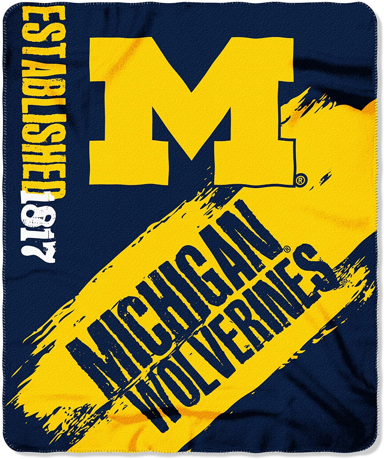 Officially Licensed Ncaa Printed Throw Michigan Wolverines Fleece Blanket