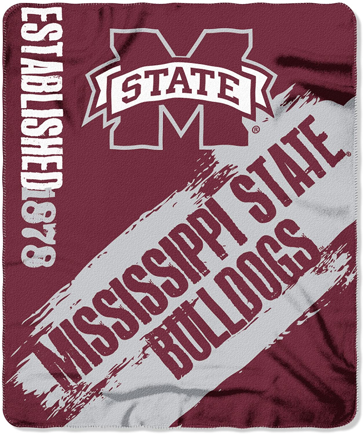 Officially Licensed Ncaa Printed Throw Mississippi State Bulldogs Fleece Blanket