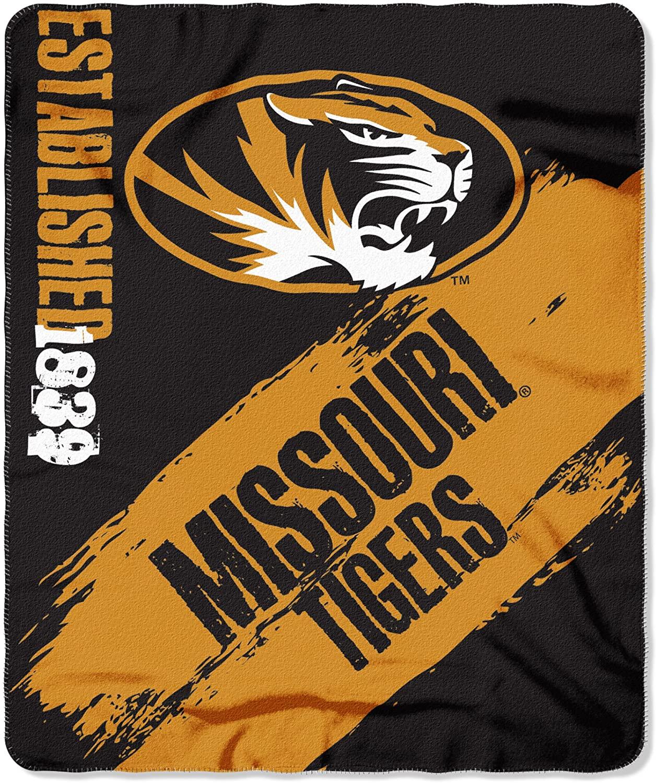 Officially Licensed Ncaa Printed Throw Missouri Tigers Fleece Blanket