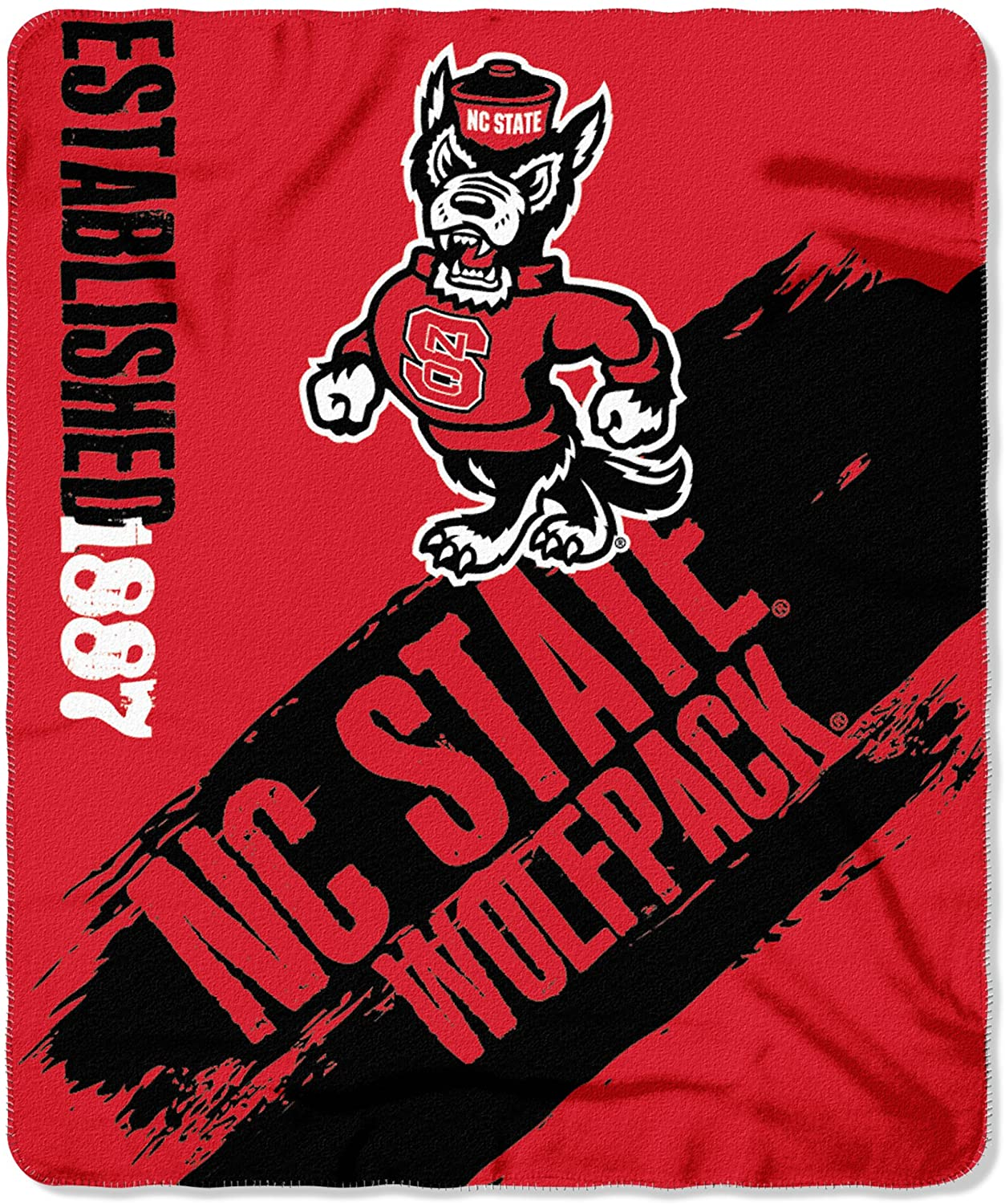 Officially Licensed Ncaa Printed Throw North Carolina State Wolfpack Fleece Blanket