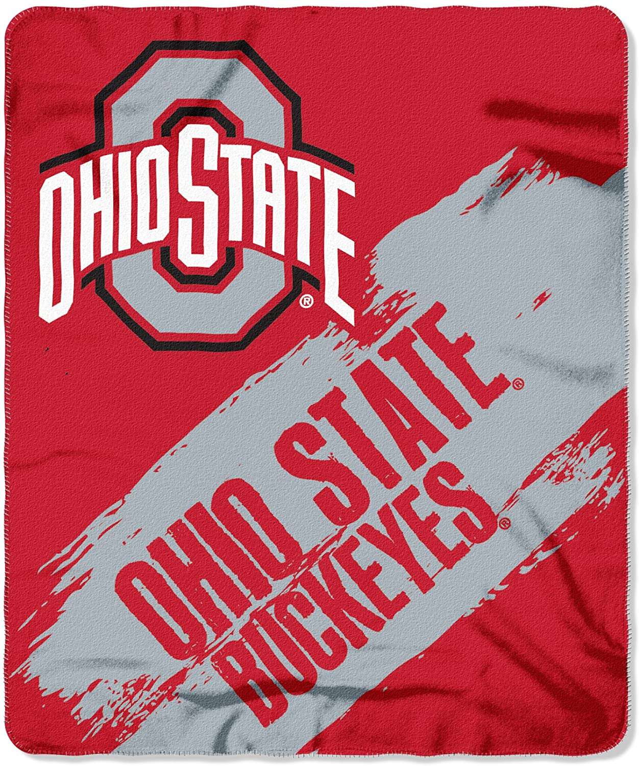 Officially Licensed Ncaa Printed Throw Ohio State Buckeyes Fleece Blanket