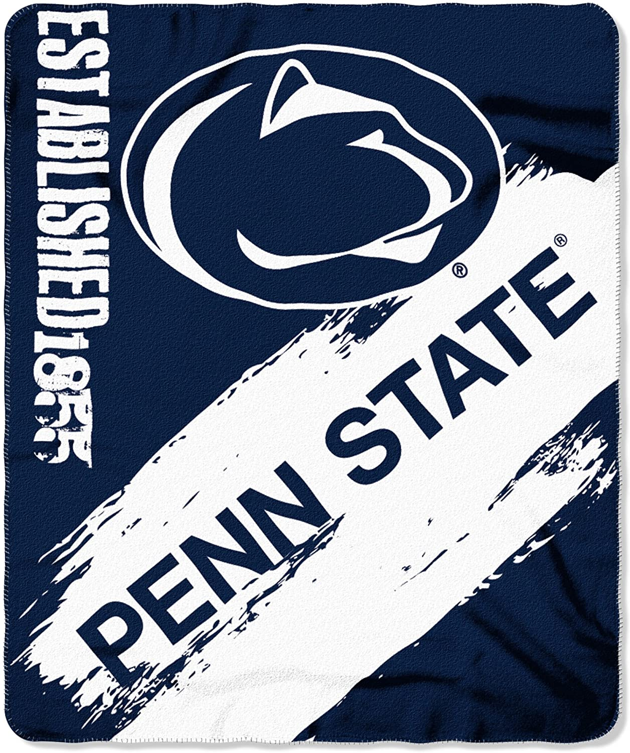 Officially Licensed Ncaa Printed Throw Penn State Nittany Lions Fleece Blanket