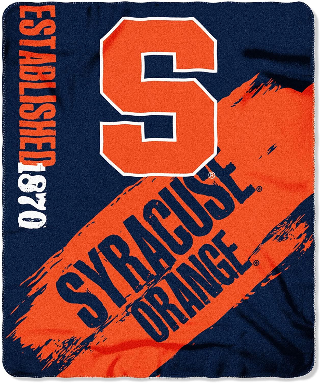 Officially Licensed Ncaa Printed Throw Syracuse Orange Fleece Blanket