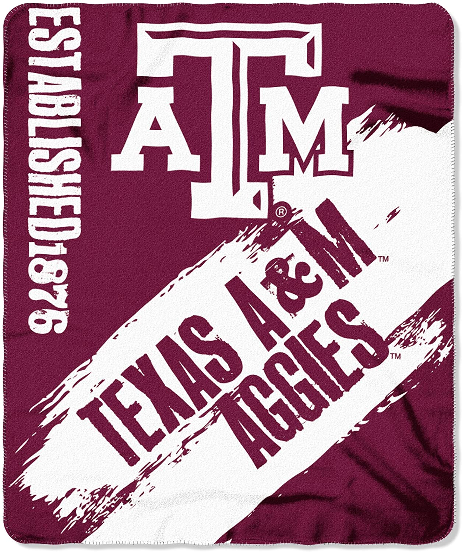 Officially Licensed Ncaa Printed Throw Texas A&m Aggies Fleece Blanket