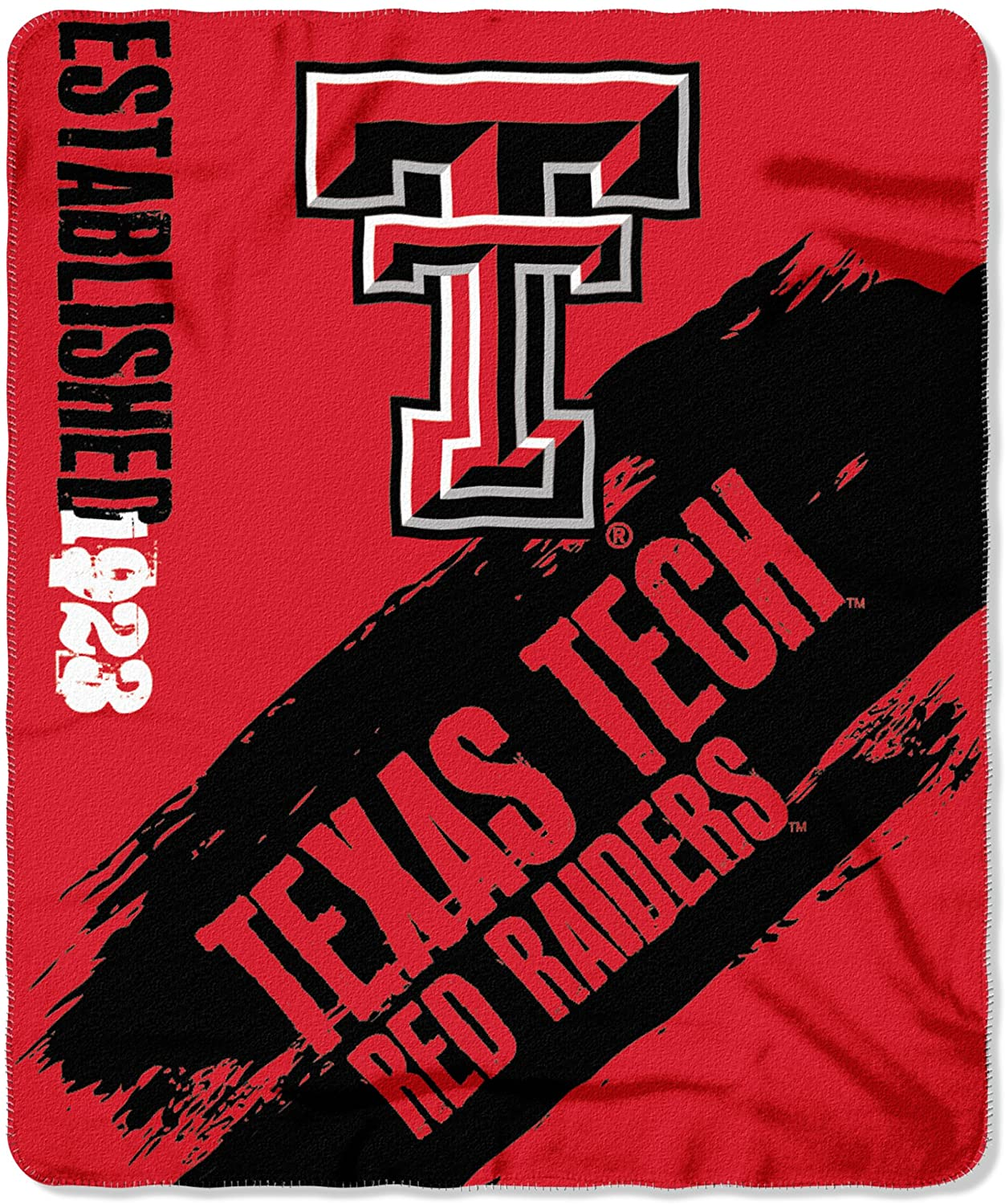 Officially Licensed Ncaa Printed Throw Texas Tech Red Raiders Fleece Blanket