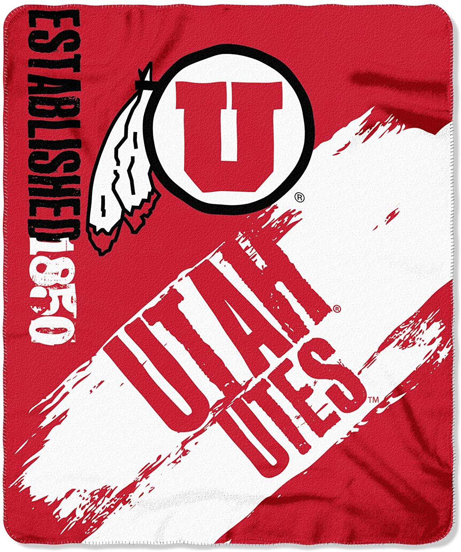 Officially Licensed Ncaa Printed Throw Utah Utes Fleece Blanket