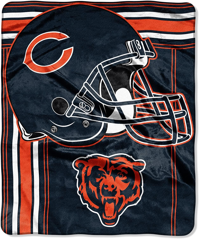 Officially Licensed Nfl Throw Chicago Bears Fleece Blanket