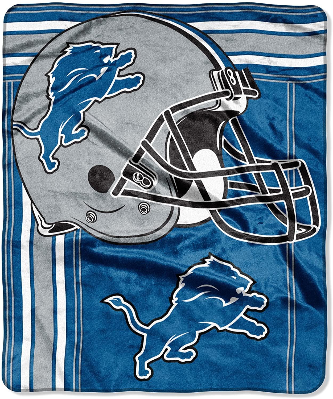 Officially Licensed Nfl Throw Detroit Lions Fleece Blanket