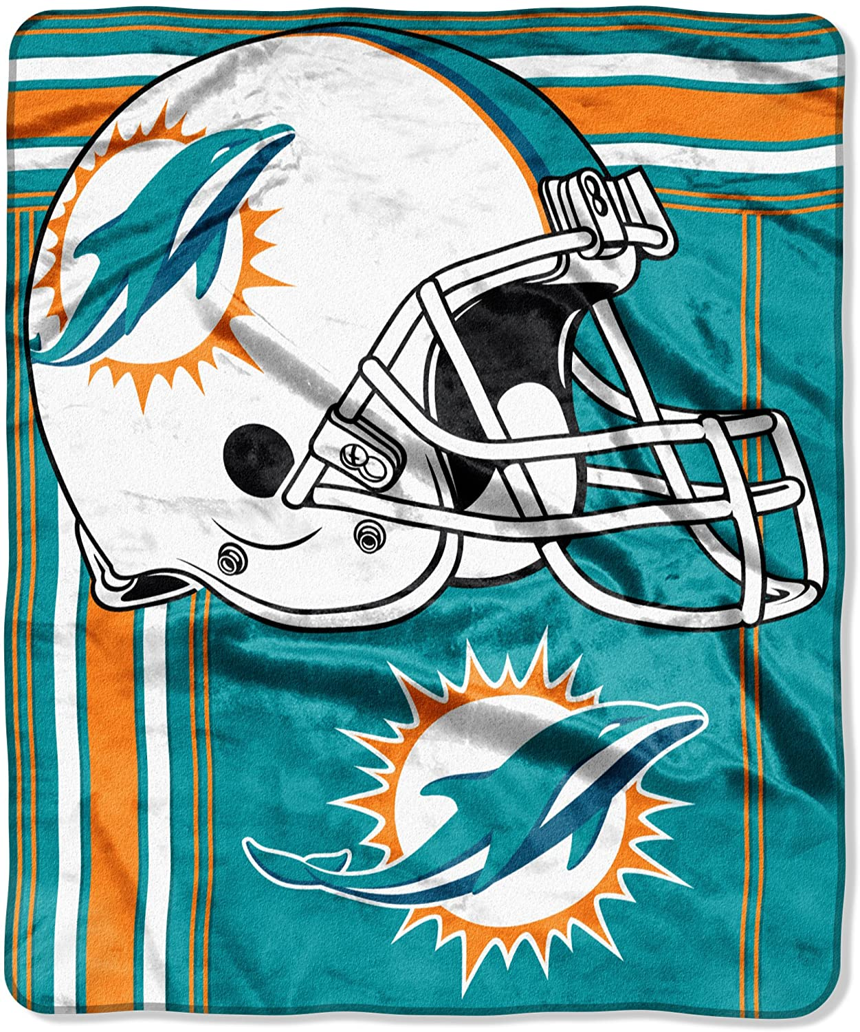 Officially Licensed Nfl Throw Miami Dolphins Fleece Blanket
