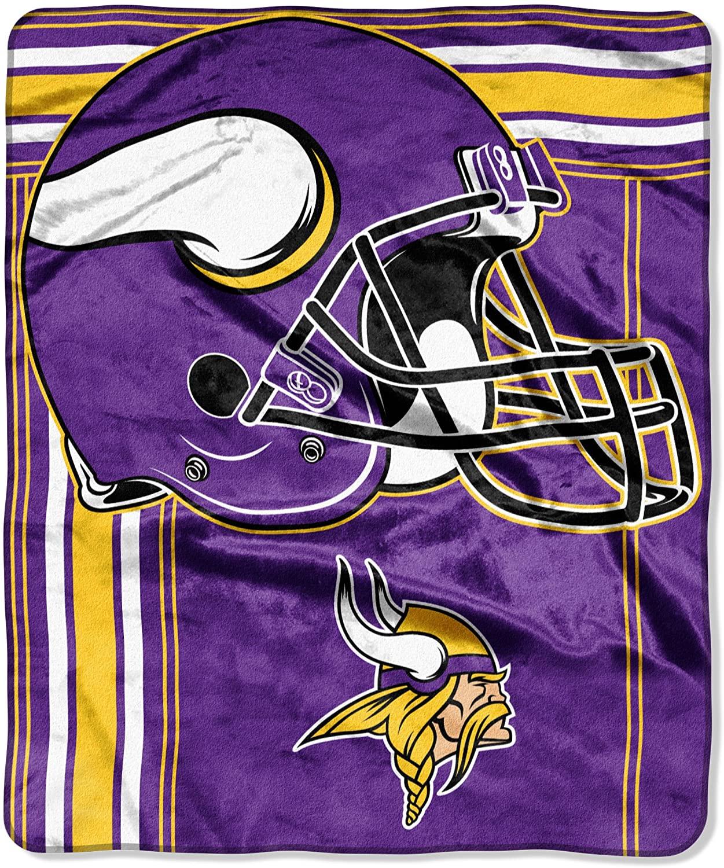 Officially Licensed Nfl Throw Minnesota Vikings Fleece Blanket