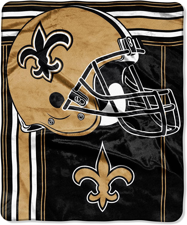 Officially Licensed Nfl Throw New Orleans Saints Fleece Blanket