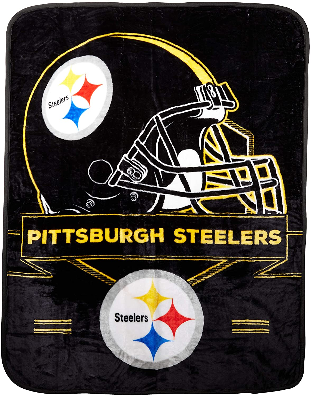 Officially Licensed Nfl Throw Pittsburgh Steelers Fleece Blanket