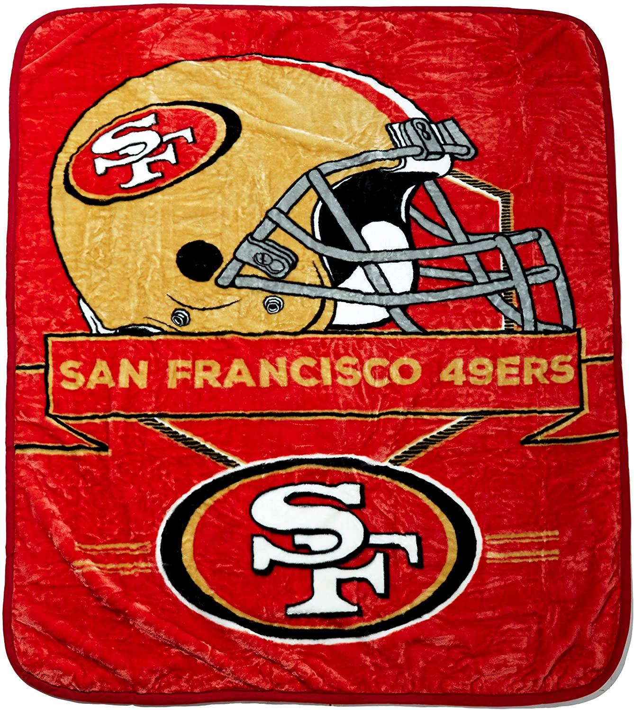 Officially Licensed Nfl Throw San Francisco 49ers Fleece Blanket