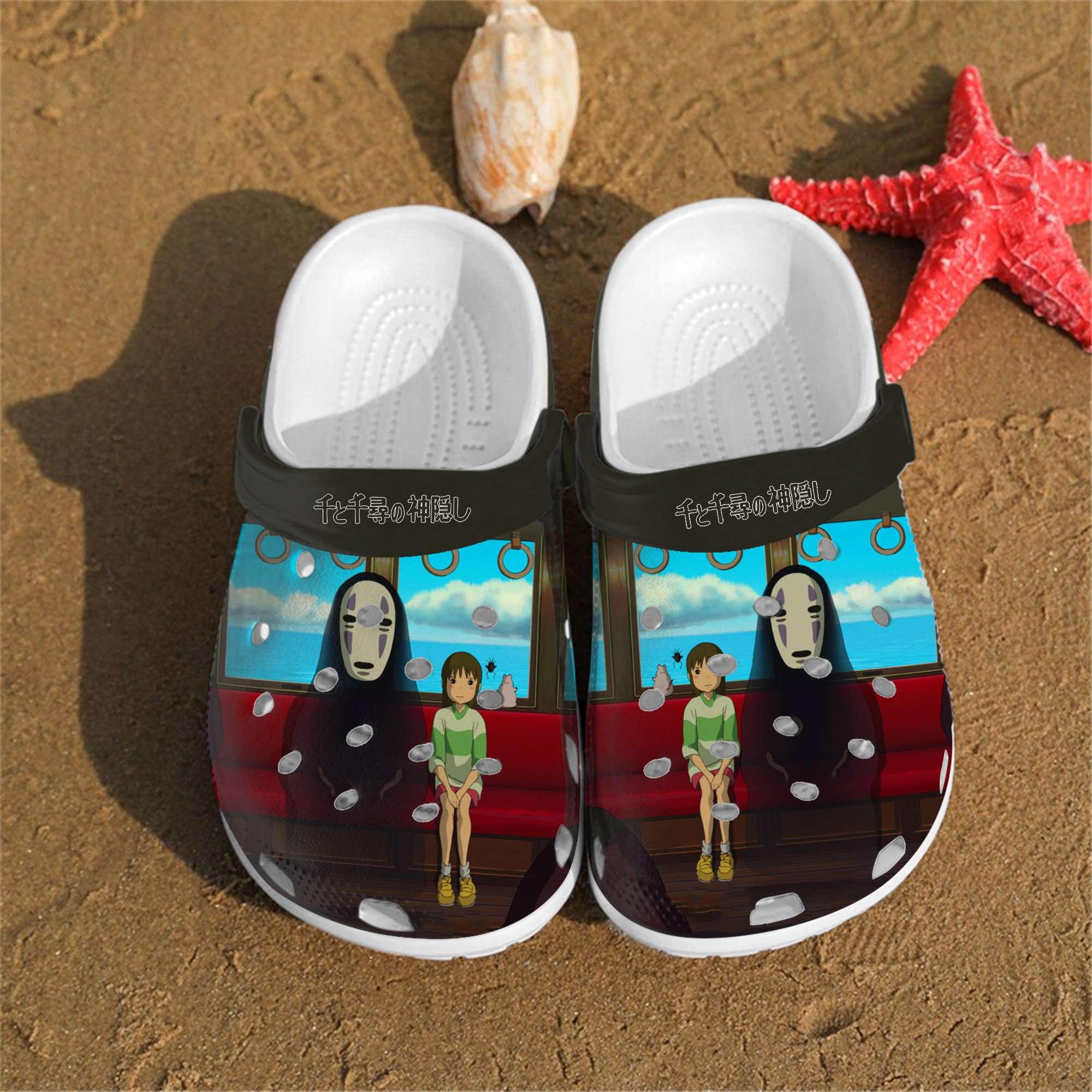 Personalised Spirited Away Art Custom Crocs Clog Shoes