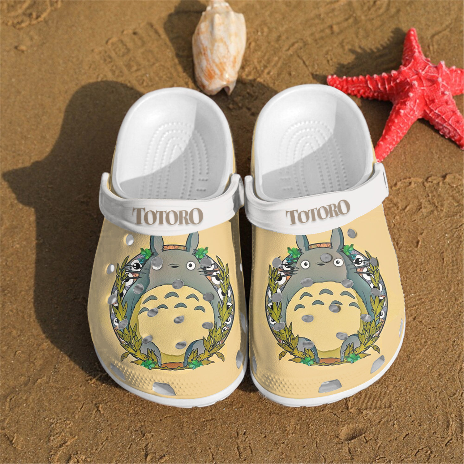 Personalised Totoro Crocs Clog Shoes