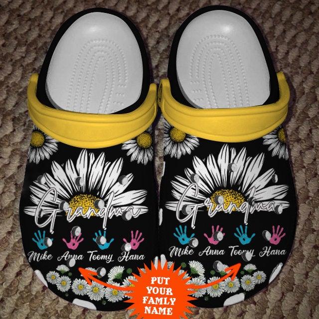 Personalization Awesome Grandma Crocs Clog Shoes