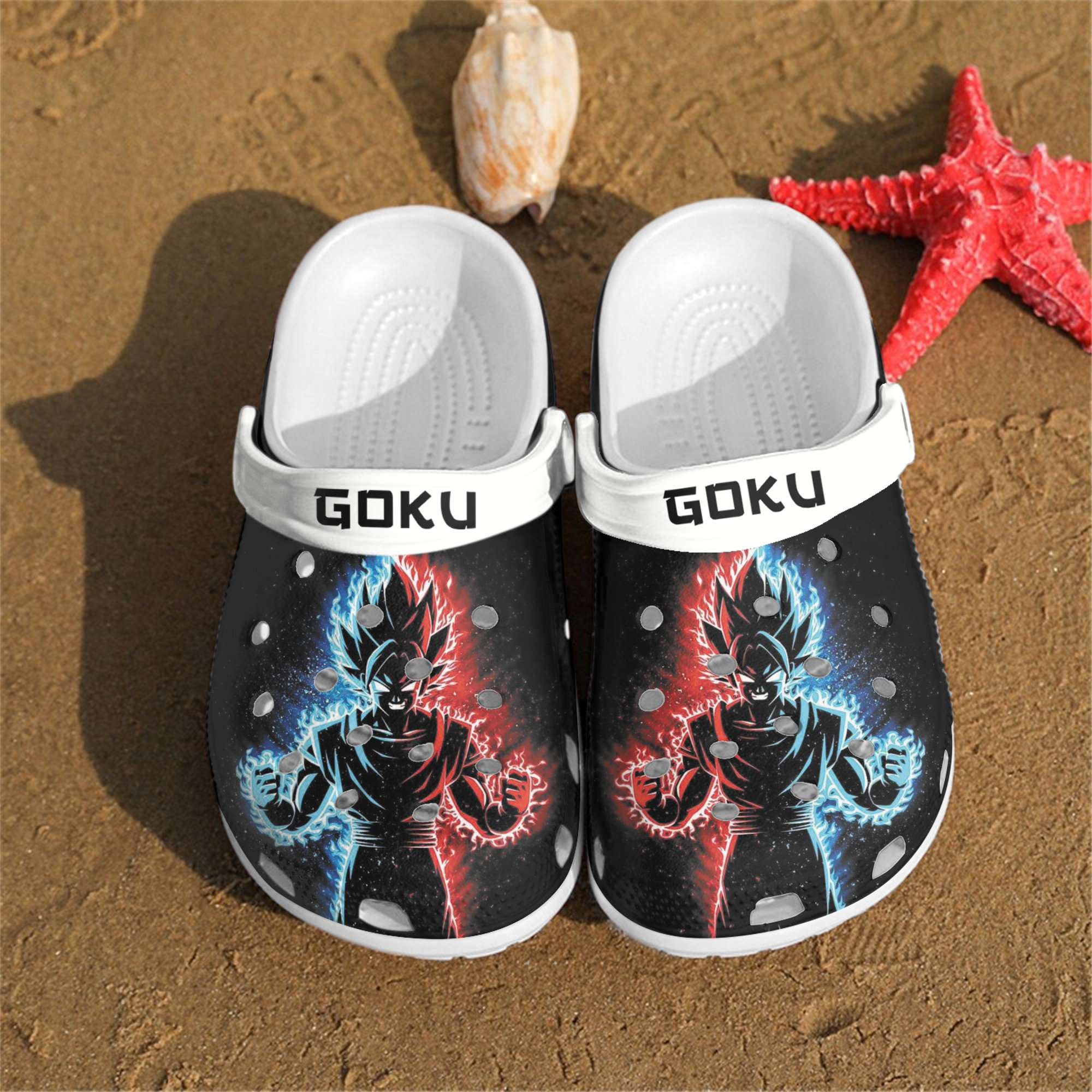 Personalized Goku Crocs Clog Shoes