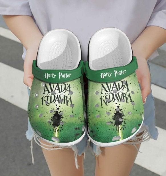 Personalized Name Avada Kedavra Crocs Clog Shoes