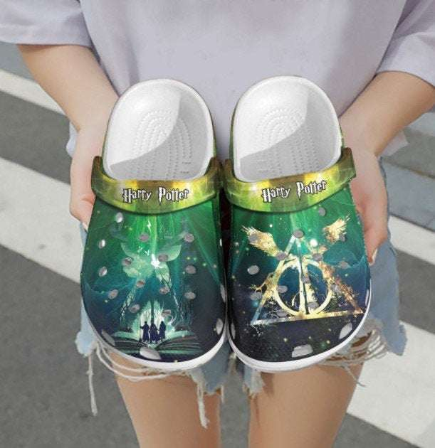 Personalized Name Harry Potter Deathly Hallows Crocs Clog Shoes