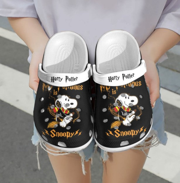 Personalized Name Harry Potter Snoopy Crocs Clog Shoes