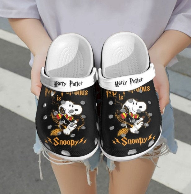 Personalized Name Snoopy Harry Potter Crocs Clog Shoes