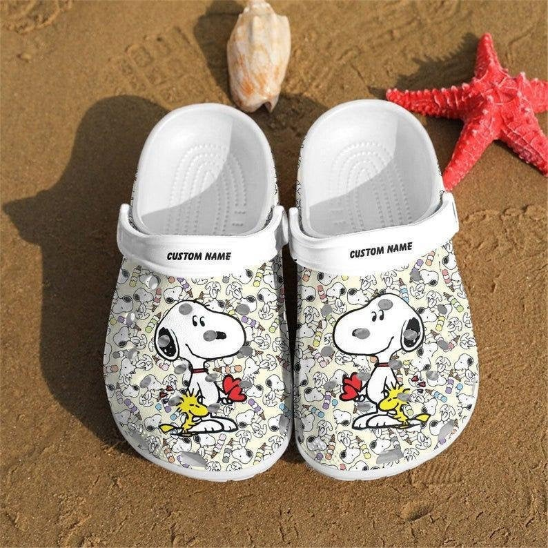 Personalized Snoopy Comfortable For Mens And Womens Classic Water Crocs Clog Shoes