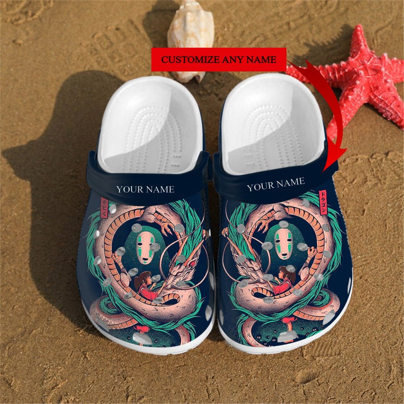 Personalized Spirited Away Art Custom Crocs Clog Shoes