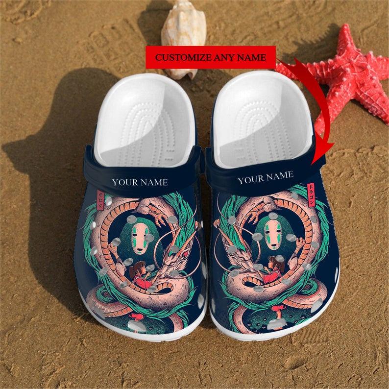 Personalized Spirited Away Art Custom Crocs Clog Shoes