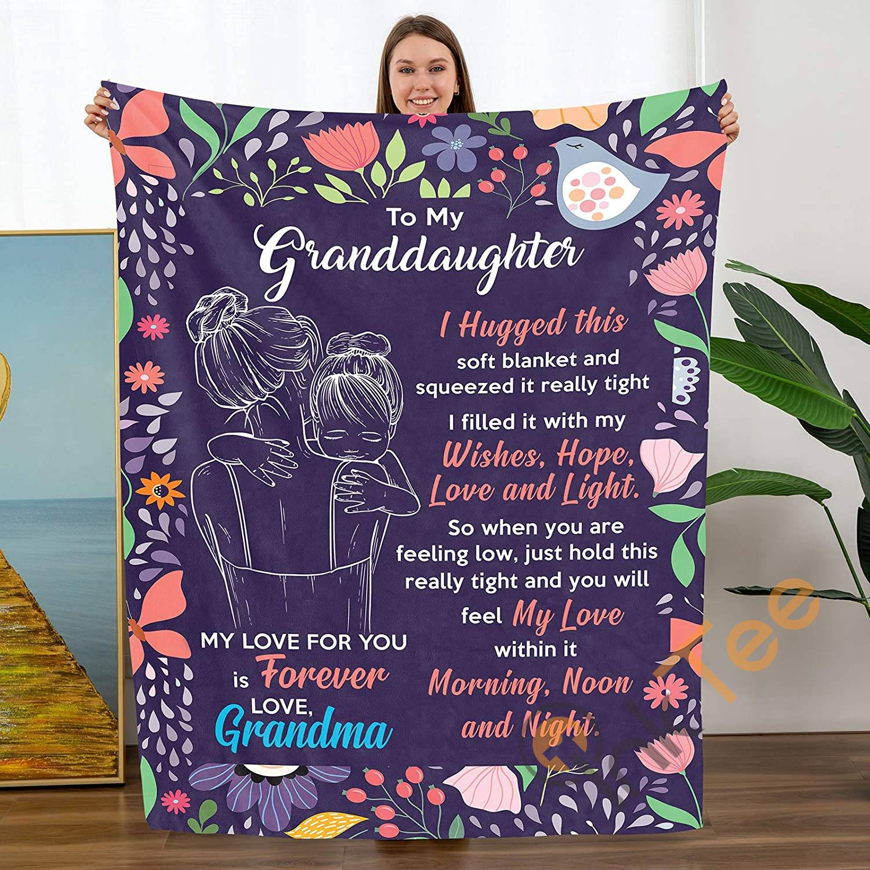 Personalized To My Granddaughter Gift From Grandma Birthdays Sku 5 Soft Throw Fleece Blanket
