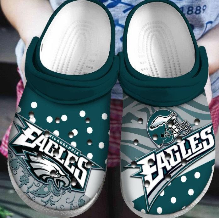 Philadelphia Eagles Crocs Clog Shoes