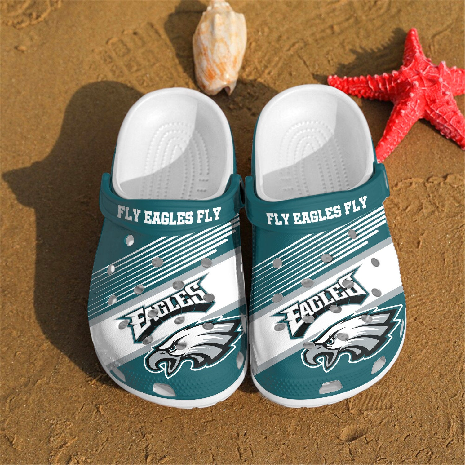 Philadelphia Eagles Fly Eagles Fly Custom For Nfl Fans Crocs Clog Shoes
